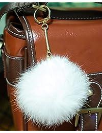 Furry Friends - Combinaison de neige - Fille blanc Pompom diameter: 8cm, Chain length: 7cm