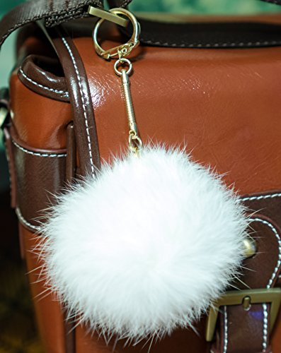 3-for-2-white-8cm-gold-metal-clasp-keyring-pompom-keychain-ball-real-fur-8cm-monster-soft-fluffy-cha