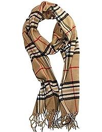 cd8cf9ed3749 Ndier Foulard à carreaux doux luxe écharpe en cachemire Grille Fashion  Style d hiver chaud