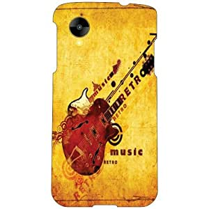 LG Nexus 5 LG-D821 Back Cover - Guitar Designer Cases
