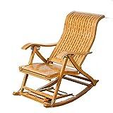 Stühle Recliners Casual Typ S Vertikale Barhocker Bambus Schaukelstuhl Ältere Mittagspause Massivholz Faule Bambus Recliners Lounge Chair