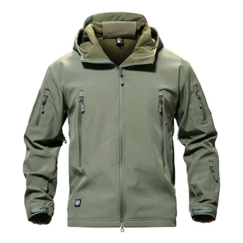 To Service Salute (MAGCOMSEN Herren winddichte wasserdichte Jacke Mountain Durable Combat Coat Army Green)