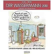 Wassermann 2018: Sternzeichen-Cartoonkalender