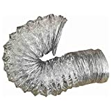 daniplus Abluftschlauch, Flexschlauch Alu Flex Rohr, Aluminium flexibel Ø 125 mm, 6 m z.B. für Lüftung, Trockner, Abzugshaube