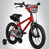 Bergsteiger Monaco 12 Zoll Kinderfahrrad, geeignet für 3 und 4 Jahre, BMX, Stützräder, Rücktrittbremse, Trinkflasche, Kettenschutz