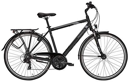 Herren Fahrrad 28 Zoll schwarz - Pegasus Piazza Citybike - Shimano Kettenschaltung, STVZO Beleuchtung