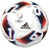 adidas Euro16 Sala Ballon Futsal Homme, White/Bright Blue/Solar Red/Silver Metallic, Taille Unique