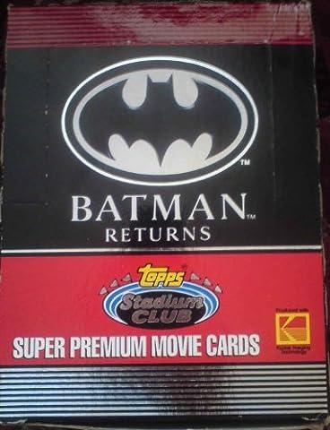 batman returns super premium movie trading cards - sealed box 1992