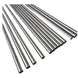 BGNing Lange Stahlwelle 20 cm Metallstange 250mm Stahl Welle DIY Achsen Technologie Produktion Gebäude Modell Material Zubehör 1 Teile / Satz (Durchmesser: 6mm)