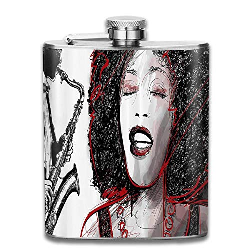 Popular Singer Karaoke Pocket Leak Proof Liquor Hip Flask Alcohol Flagon 304 Stainless Steel 7OZ Gift Box Outdoor