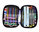 49 Pieces Crochet Hooks Sets, OldShark 22 Sizes Knitting Needles Tools with 27 Accessories Tools,Sewing Knitting Kits with PU Case