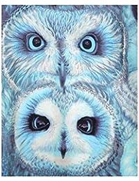 Babysbreath17 Árbol del Pavo Real del Ojo del Buho 5D Rhinestone Bordado de Punto de Cruz de Cristal Pintura Animal del Arte de la Costura…