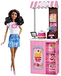 Barbie Careers Bakery Shop Doll & Playset, Brunette