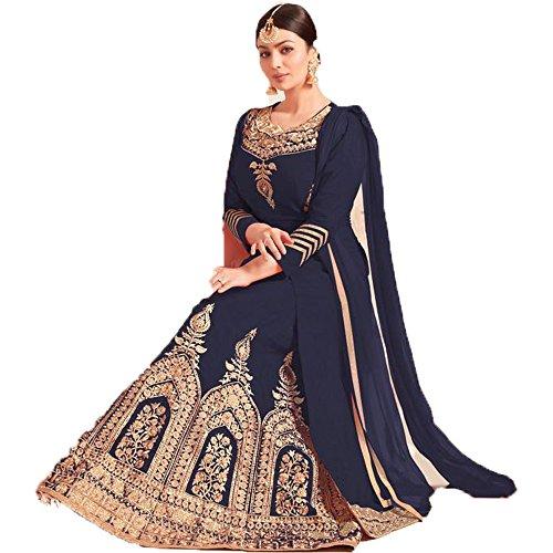 Vivaa Fashion Ayesha Takia Grey Tafeta Silk Designer Salwar Kameez VFKF965
