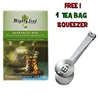 Mighty Leaf Tea ,Green Marrakesh Mint ,(with FREE Tea Bag Squeezer) (1 Pack)