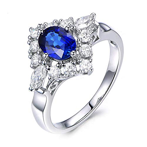 Principessa middleton halo anello fidanzamento argento sterling 925 fedi nuziali particolari misura 22