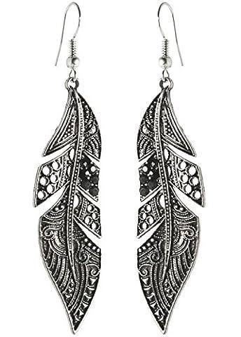 Boucle D Oreille Ethnique - 2livefor Longues boucles d'oreilles pendantes en forme