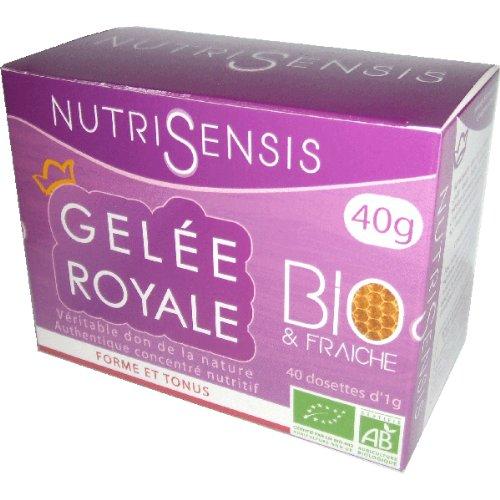 Nutrisensis - Gelée royale bio - 40 dosettes 1 g - Période d'activité intense, changement de sason