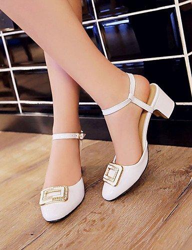 UWSZZ IL Sandali eleganti comfort Scarpe Donna-Sandali / Scarpe col tacco-Tempo libero / Formale / Casual-Tacchi / Punta arrotondata-Quadrato-Finta pelle-Nero / Verde / White