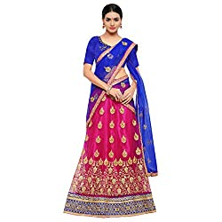 Styles Closet Net Semi Stiched Lehenga Choli(7187_Pink)