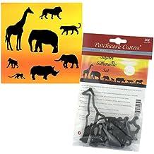 Patchwork Cutters–Safari Silhouette Set–8pc Kuchen Dekoration Ausstecher