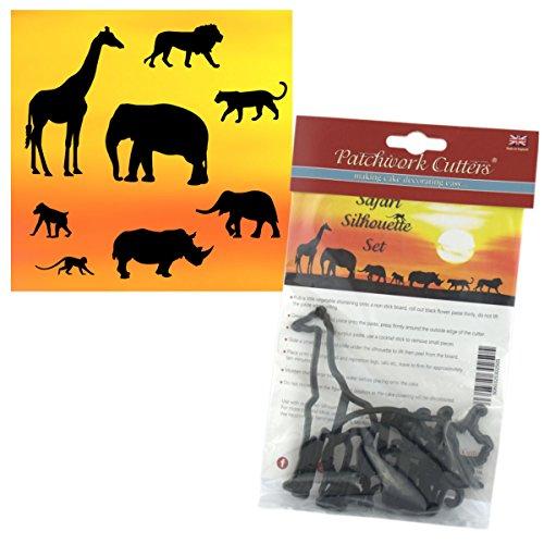 Patchwork Cutters-Safari Silhouette Set-8pc Kuchen Dekoration Ausstecher