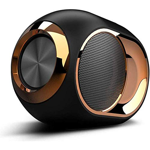 ALGG High-End Wireless Speaker - 108 DB Stereo Bluetooth Lautsprecher-Player, Goldenes Ei drahtloser Bluetooth Lautsprecher Super Strong Subwoofer Tragbarer,Schwarz