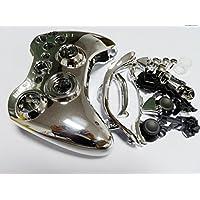 guscio controller - SODIAL(R) Caso Copertina argento cromato completa Housing Shell per controller wireless Xbox 360