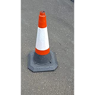 Heavy Duty Self Weighted 750mm Road Traffic Cones (Pack of 10 Cones)