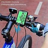 BIFY Fahrradcomputer Fahrradcomputer Kabellos Tachometer 20 Funktion Großbildschirm Touch Lichtsteuerung LCD Hintergrundbeleuchtung Fahrrad Meter Kilometerzähler - 5