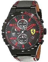 Ferrari Herren-Armbanduhr Speciale Evo Analog Quarz Leder 0830363