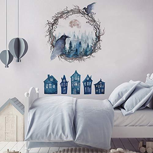 Halloween Dekoration Ghost Birds Crow Wandaufkleber für Wohnzimmer Schlafzimmer Kunst Decals Kinderzimmer auf der Wand Wandbilder ()