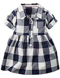 494a39a2bd3 Carter s Girls Poly Cotton Buffalo Check Shirt Dress in Blue Color for Age  0-3
