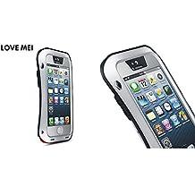Aleación de aluminio Metal choque xiaomei amor/impermeable de cristal para Apple iPhone 5/5S 5 G, compatible con Apple iPhone 5/Apple iPhone 5 & 5S