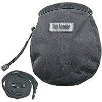 pratica Bolsa de Tiza per il sollevamento pesi di Ginnastica da Boulder con tasca posteriore con Zip e Cintura regolabile con buona tenuta impermeabile nera
