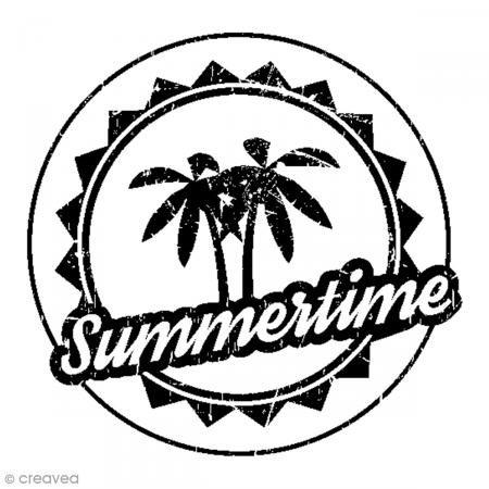 Artemio Stamp Summertime, Wood, black, 4.5x 2.5x 4.5cm
