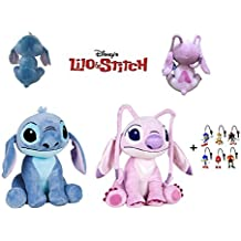 Lilo&Stitch - Pack 2 Peluches Stitch y Angel (Stitch Rosa) 1141
