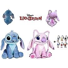 Lilo&Stitch - Pack 2 Peluches Stitch y Angel (Stitch Rosa) 1141