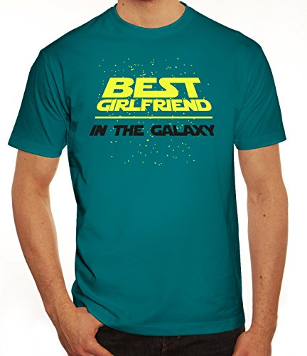Valentinstag Paar Partner Valentine Herren T-Shirt mit Best Girlfriend In The Galaxy Motiv Diva