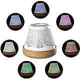 COOSA Diffuseur Brûle-Encens Fumée Diffuseur de Parfum de Lumière Brûleur d'encens électrique Dissolution de cire parfumée Forêt Noire Multicolore (135x135x125mm, Blanc)