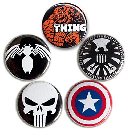 Marvel Comics - Helden - Punisher - S.H.I.E.L.D. - Captain America Logo - Thing -...