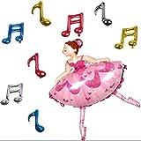 TOYMYTOY Ballett Mädchen Folienballon für Kinder Geburtstag Party Dekoration