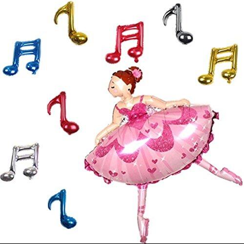 TOYMYTOY Ballett Mädchen Folienballon für Kinder Geburtstag Party Dekoration (Ballett Party Dekorationen)