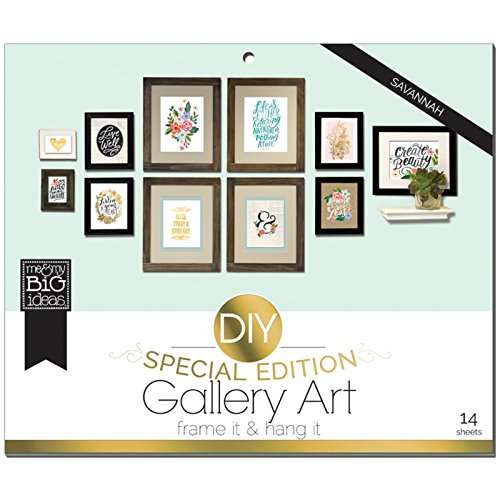 Unbekannt Me and my big Ideas Savannah DIY Galerie Kunstdruck Pad, mehrfarbig (Druck-foto-papier 8x11)