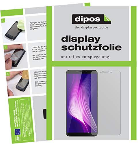 dipos I 2X Schutzfolie matt passend für Cubot Nova (2018) Folie Displayschutzfolie