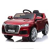 Audi Q5 - Modell 2018 - Elektro Kinderauto - Rot - Ledersitz - Vollgummi Reifen - 2,4Ghz Bluetooth FB - Rot Metallic / Elektroauto / Auto / Kinderauto / Vollausstattung