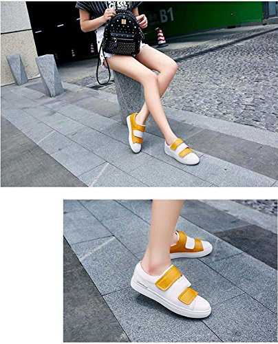 NobS Cuir Chaussures Casual Mocassins Flats Sabots Mules Femmes Chaussures Yellow