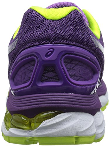 Asics Gel-Nimbus 17 Damen Synthetik Laufschuh Plum/Silver/Flash Yellow