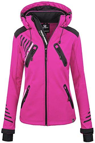 Rock Creek Damen Softshell Jacke Outdoorjacke Windbreaker Übergangs Jacke - Pink - 42/XL