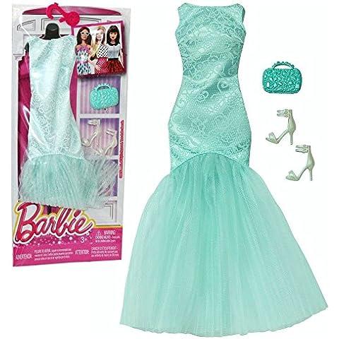Barbie - Tendencia de la Moda para la Ropa de la Muñeca Barbie - Vestido de Noche Verde Menta